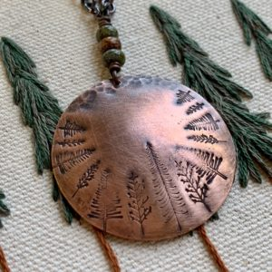 Copper forest necklace