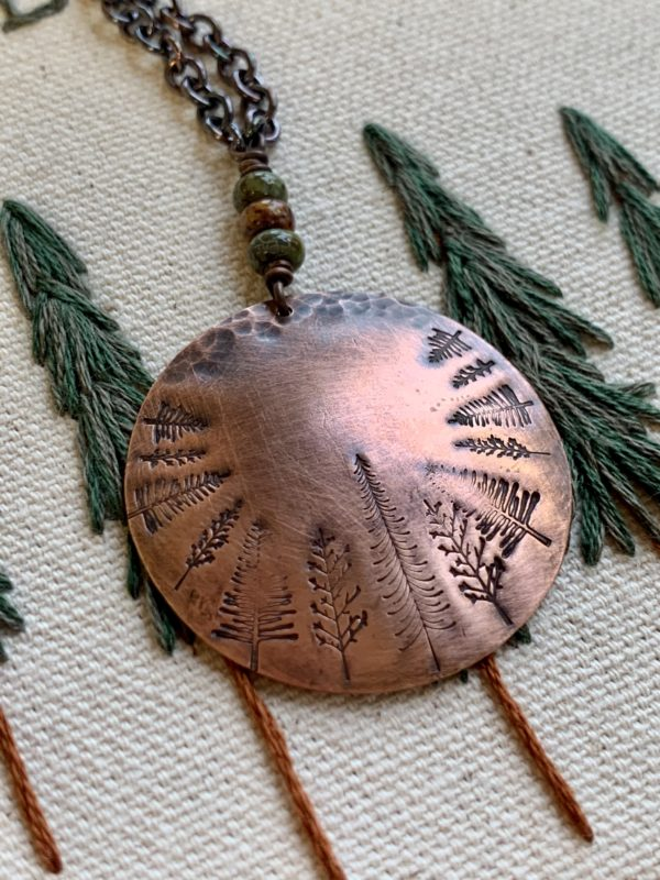 Copper forest necklace scaled