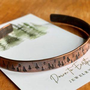 Tiny trees copper cuff bracelet 2